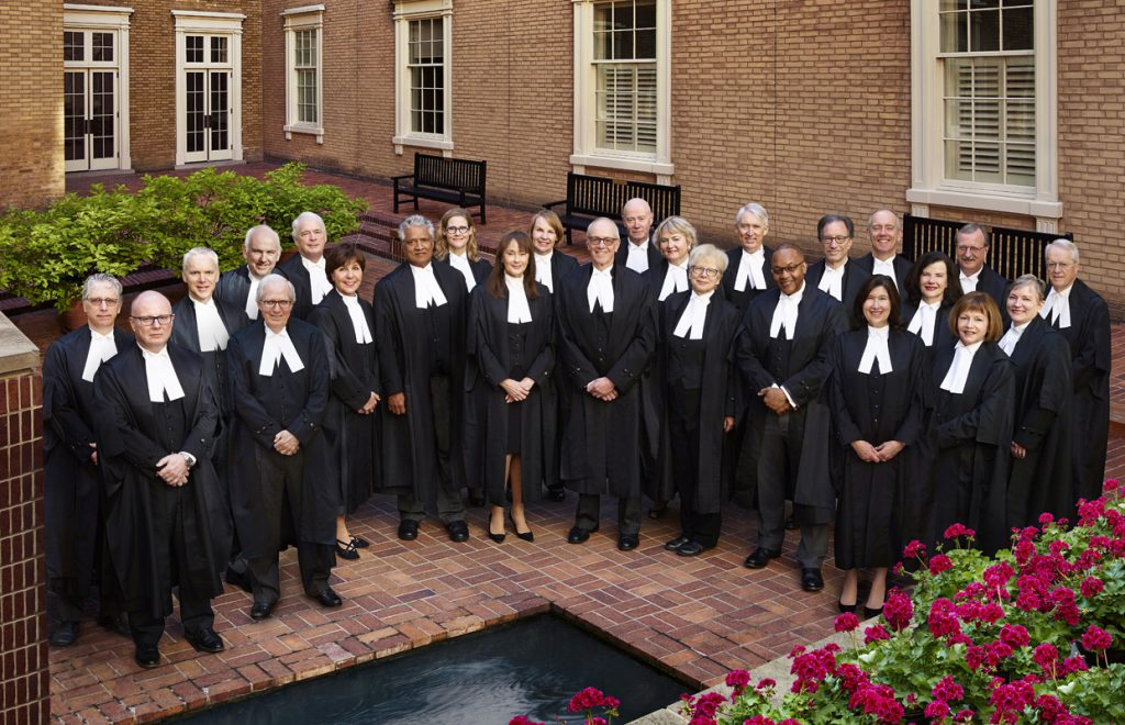 Judges at Osgoode Hall Inner Courtyard